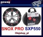 SNOX PRO SXP550 łańcuch śniegowy NOWOŚĆ. Komplet na dwa koła