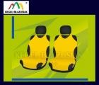 Pokrowce koszulki na przednie fotele. Rozmiar B - kolor żółty
