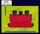 Pokrowce koszulki na tylną kanapę. Rozmiar uniwersalny - kolor czerwony